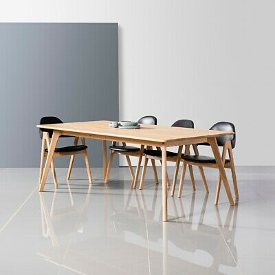 Lars dining table solid american oak 200x110cm for 10 seater solid oak dining table