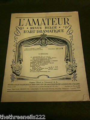 Theatre - L'amateur # 6 - 1947 - The Staging By M G Sion