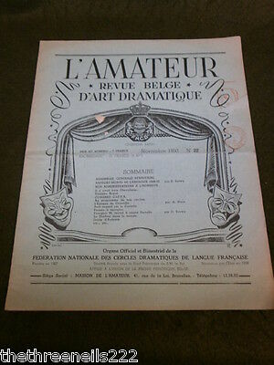 Theatre - L'amateur #22 - 1950 - The Time Of Crow