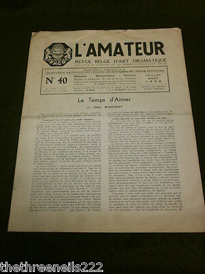 Theatre - L'amateur #40 - 1954 - The Time To Love