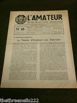 Theatre - L'amateur #48 - 1955 - The Book Of Philinte