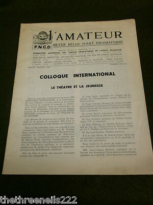 Theatre - L'amateur #70 - 1959 - Inter Symposium On Youth