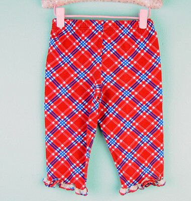 VTG BASIC EDITIONS Red Little Girl or boy Geometric Long Pants Sz 4T