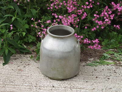 Lovley old Vintage Conical Aluminium Portable Milking Churn - ideal planter