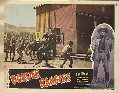 Border Rangers 1950 Original Movie Poster Action Adventure Western