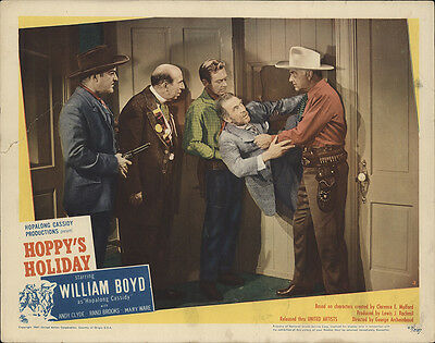 Hoppy's Holiday 1947 Original Movie Poster Action Adventure Western