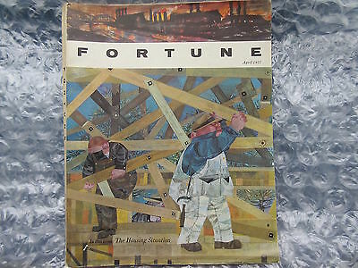 Old April 1957 Fortune Magazine Jerome Snyder Housing Cover