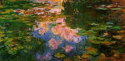 Water lily pond 1919 #5 by Claude Monet Giclee Fine ArtPrint Repro on Canvas