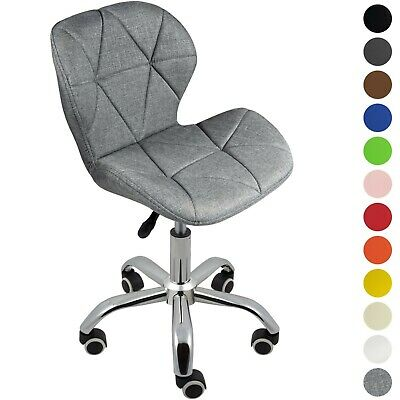 Cushioned Computer Desk Chair Chrome Legs Lift Swivel by Charles Jacobs