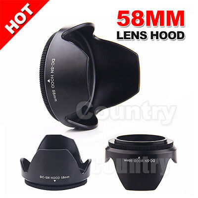 58mm Lens Hood Flower Shape Screw Mount Petal Crown For Canon DC-SN HOOD 1100d