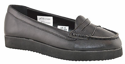 Infant Girls Smart Slip On Formal Back To School Loafers Creeper Shoes Size 10-5