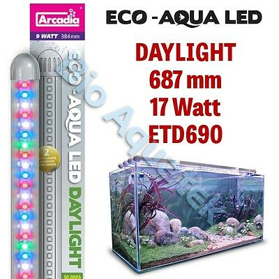 Arcadia Eco Aqua LED Aquarium Lamp / Strip Light - Daylight 687mm 17w ETD690