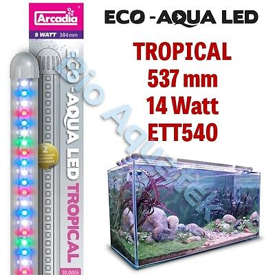 Arcadia Eco Aqua LED Aquarium Lamp / Strip Light - Tropical 537mm 14w ETT540