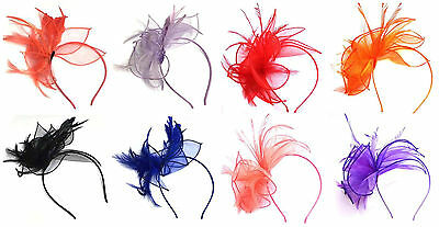 Chiffon Aliceband Feather Fascinator Aliceband Headband Hat Fascinator 19