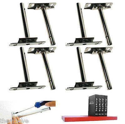 8pcs Heavy Duty Tool Concealed Floating Hidden Shelf Support Metal Brackets AU