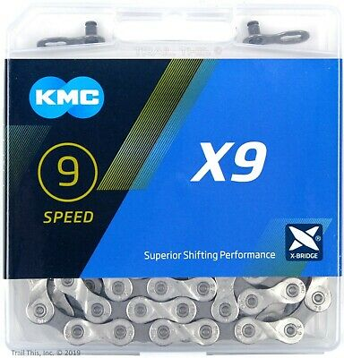 KMC X9.93 9-Speed Stretch-Proof Bike Chain Road MTB fit Campagnolo Shimano SRAM