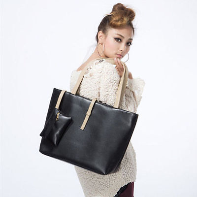 Women PU Leather Tote Shoulder Bags Hobo Handbags Satchel Messenger bag Purse SS