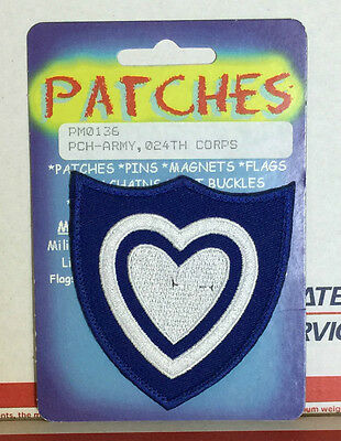 US Army WWII 24th Corps Shoulder Insignia Embroidered Patch - Reproduction NEW
