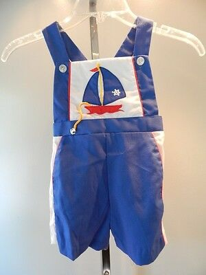 Vintage 1960s Tiny Tots Navy Sport Overalls Shorts Sailor Retro Little Boy Kid 4
