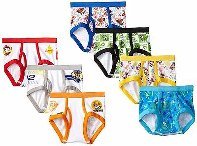 PAW PATROL Toddler Boys Briefs 7-pack Sizes 2T/3T, 4T NICKELODEON NEW Handcraft