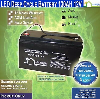 130Ah Amp-Hour-Battery-Deep-Cycle-Agm Pick Up Only
