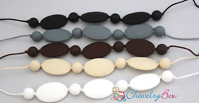 Jayme Chewelry Box Silicone Nursing Mom Necklace Chew Teething Mother Beads
