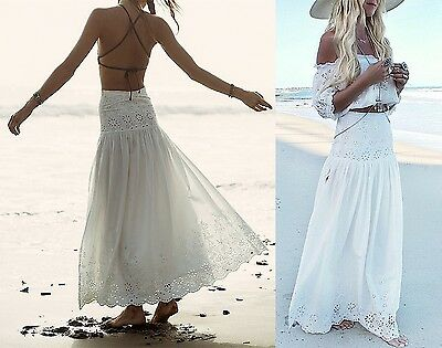 Gonna Lunga e Top Donna Pizzo Traforato - Woman Maxi Skirt and Top - Lace 130018