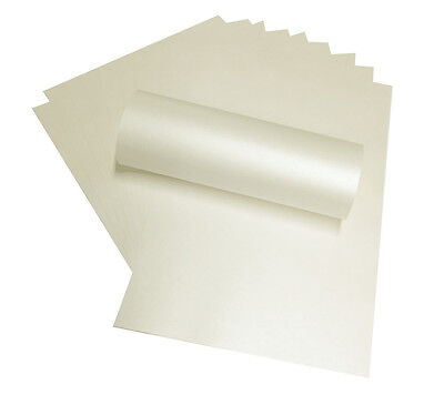 100 A4 Ivory Paper Peregrina Majestic Pearlised Shimmer Double Sided 120Gsm