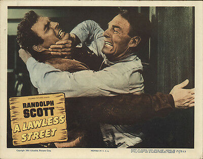 A Lawless Street 1955 Original Movie Poster Western
