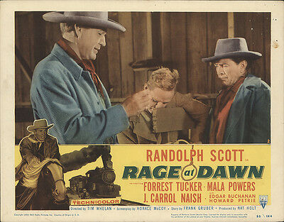 Rage at Dawn 1955 Original Movie Poster Western