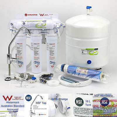 Australian Standard Reverse Osmosis water filter fluoride removal 5 stages RO