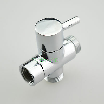 Brass Chrome Diverter for Bidet Toilet Spray Hand Held Shower Head Shattaf Kit