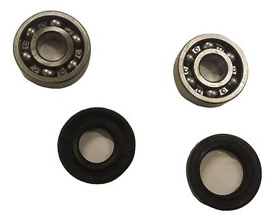ukscooters LAMBRETTA FRONT HUB WHEEL BEARINGS AND OIL SEALS X 2 NRB NEW .