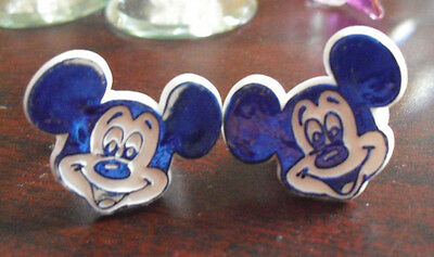 Lot of 2 Vintage 1970s Plastic Mickey Mouse Childrens Rings