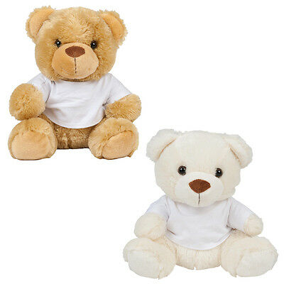 Kids Mumbles Bear Dressed in Removable White Cotton Tshirt Stuffed Toys Size S-M