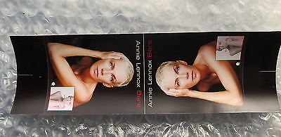 Annie Lennox Bare Promotional Tent Card Unfolded