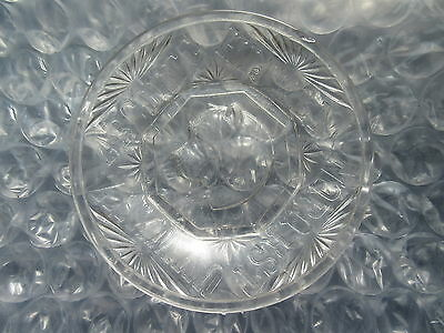 Antique EAPG Pattern Glass ABC Plate Dog's Head in Center