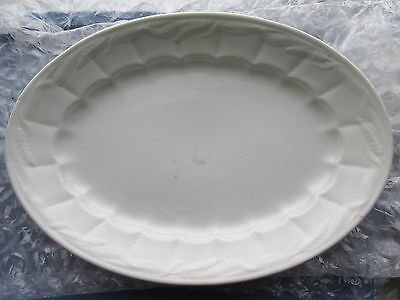 Antique Paris White Ironstone Wheat Platter W&E Corn England 16 1/2""