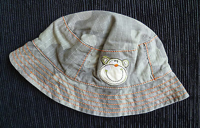 Baby clothes BOY 0-3m camouflage monkey cotton hat cotton lining George NEW!