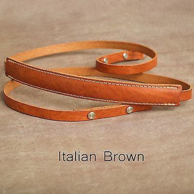 "The 1901 ""Steichen"" Leather Camera Strap - 115cm - Italian Brown"