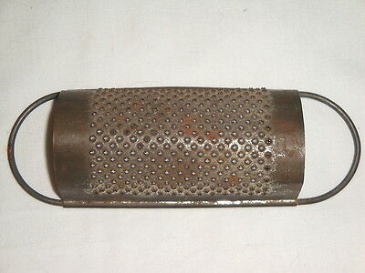 Antique Small Hand Held Metal Grater Kitchen Utensil