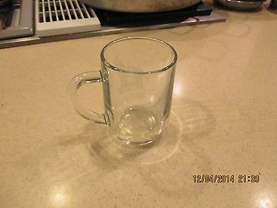 Libbey Glass Cup / Mug Etched Wolf
