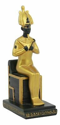Ancient Egyptian Religion Decorative God Osiris Sitting on Throne Rare Statue
