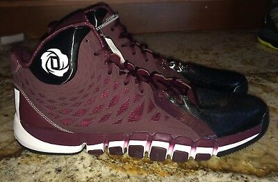 check out ce3bb 501e7 ADIDAS D Rose 773 II 2.0 Maroon Black Whit Basketball Shoes Sneakers NEW  Mens 18
