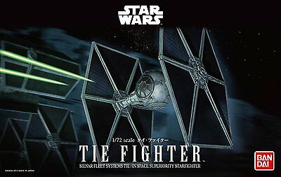 New Bandai Star Wars Tie Fighter 1/72 scale kit Japan