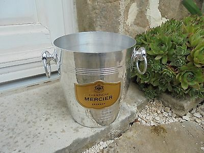"""French champagne - wine ice bucket  label """" Champagne MERCIER EPERNAY """" stamped"""