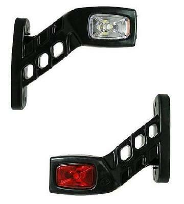 2x STALK SIDE MARKER LED LIGHTS LAMPS WHITE RED AMBER 12V TRAILER TRUCK CARAVAN