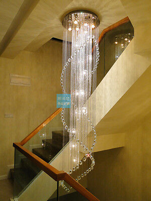 crystal chandelier Ceiling hang Fixture Curtain pendant lamp led light hall 3s