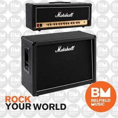 Marshall Stack DSL100 Guitar Amplifier 100W Amp Head + MX212 Cabinet 2x12'' Cab