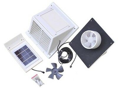separated Solar panel wall Fan Exhaust Vent w/o battery for pet hutch dog kennel